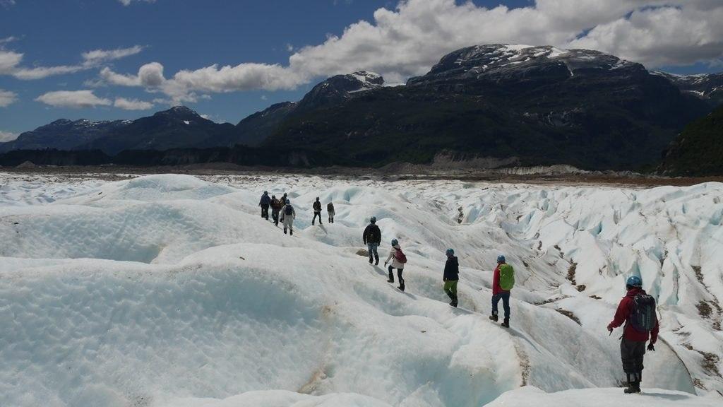 Trekking Exploradores Sur le glacier