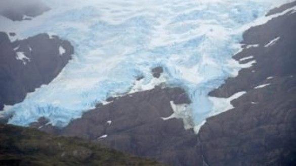 Détail de glacier dans les fjords