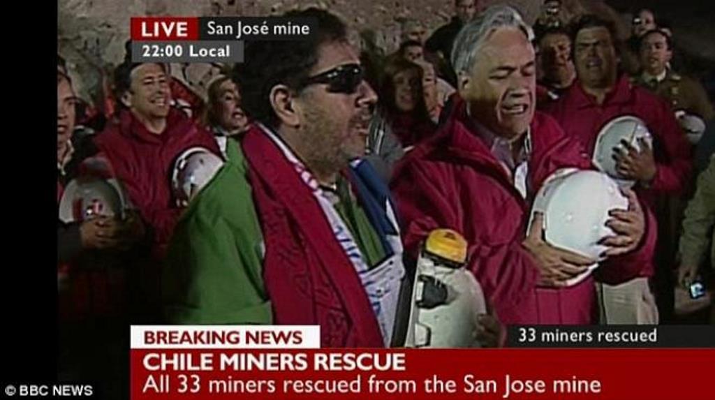 Piñera à droite en 2010