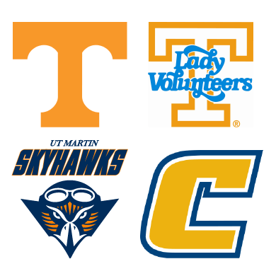 UTK and UTC sports logos