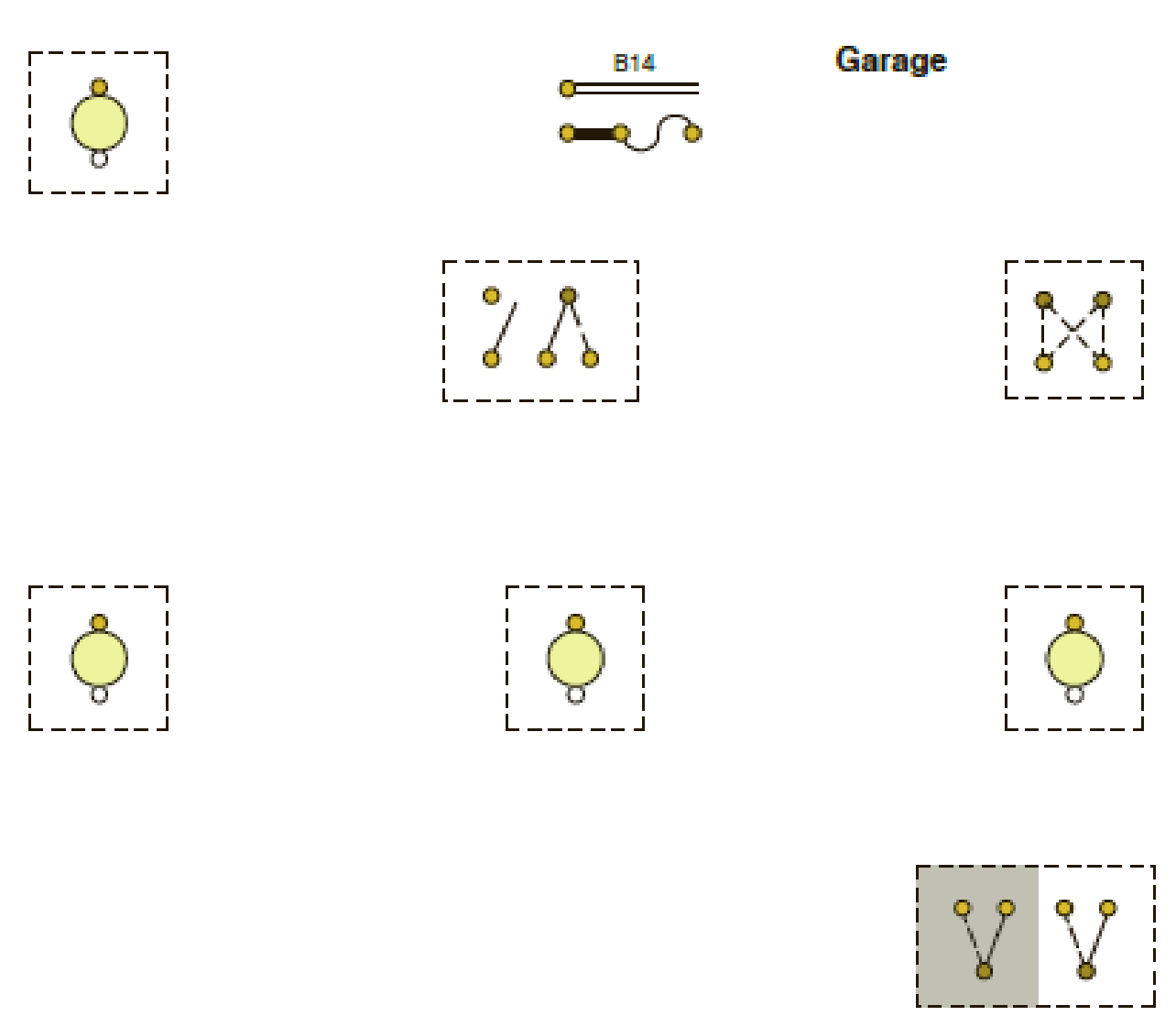 hight resolution of the receptacles in the garage are not shown in this diagram because they are connected to circuit b23