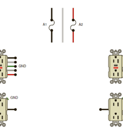 circuit a1 supplies gfci receptacles and circuit a2 supplies gfci receptacles and receptacles and are feed through type  [ 1920 x 1385 Pixel ]