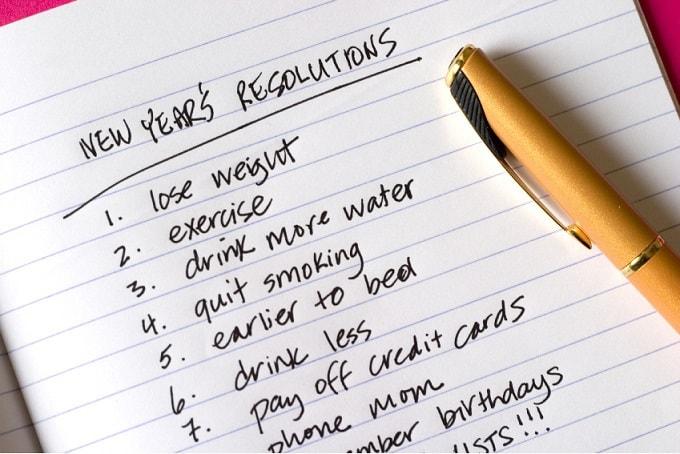 Les bonnes résolutions à prendre et à tenir pour la nouvelle année