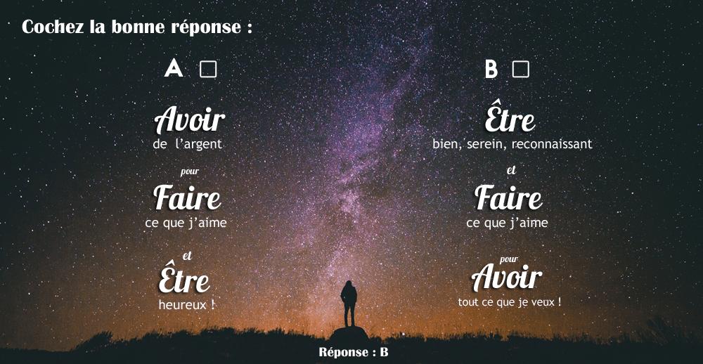 """""""Avoir, Faire, Être"""" VS """"Être, Faire, Avoir"""""""