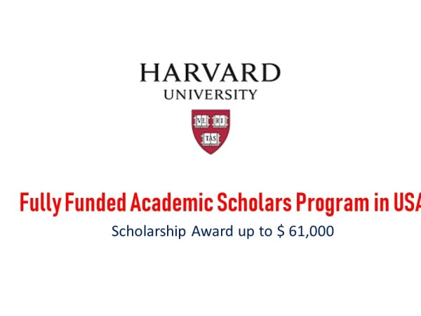Fully Funded Scholars Program in USA at Harvard University
