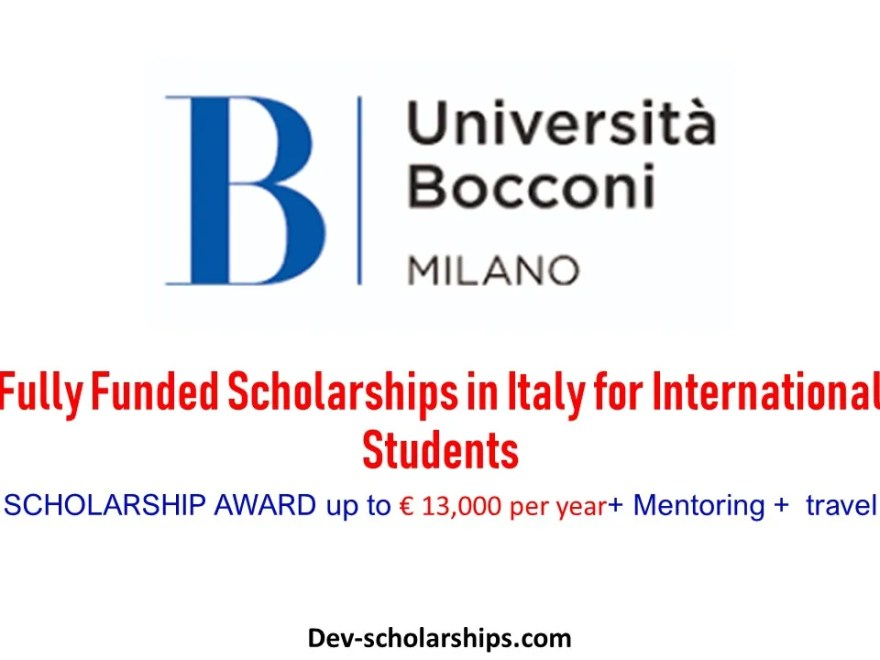 Bocconi University Fully Funded Scholarships in Italy for Internationals, 2019