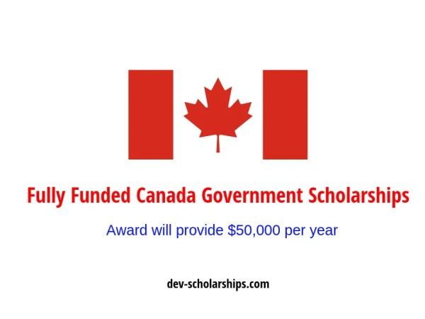 Government Fully Funded Vanier Canada Graduate Scholarships, 2020