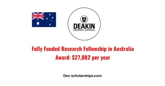 Deakin University Fully Funded Postgraduate Research Scholarships in Australia, 2019