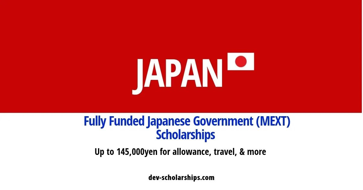Fully Funded Japanese Government (MEXT) Scholarships for Foreign