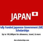 Fully Funded Japanese Government (MEXT) Scholarships for Foreign Students in Japan, 2019