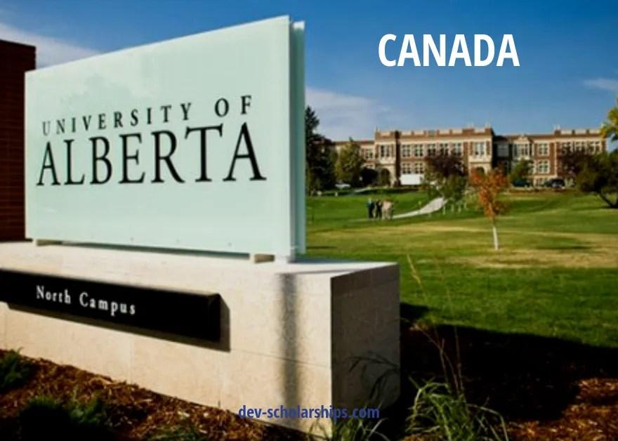 International Undergraduate Student Bursary at University of Alberta in Canada, 2019