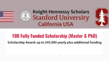Fully Funded Stanford University Knight Hennessy Scholarships Program in USA, 2020