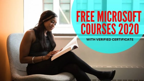 Free Microsoft Online Courses 2020 | Verified Certificate