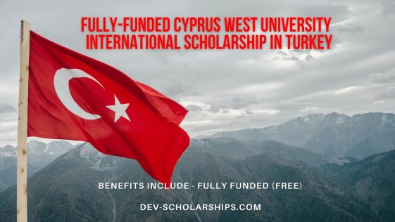Fully-Funded Cyprus West University Tomorrow's Leaders International Scholarship in Turkey
