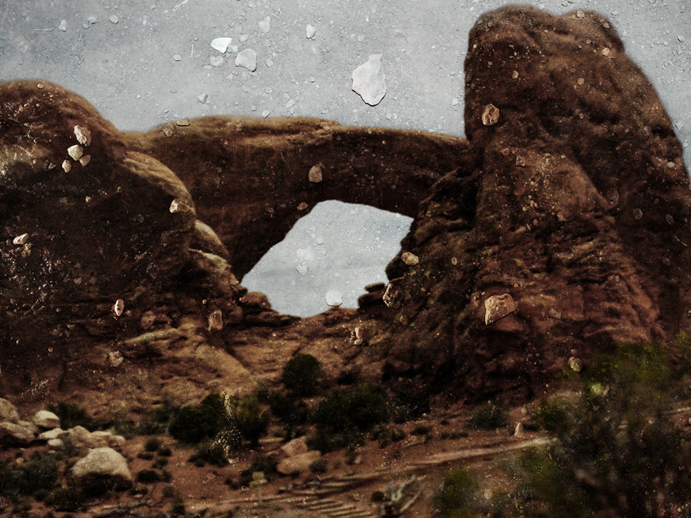 Tent-Camera Image On Ground: South Window. Arches National Park, Utah, 2011