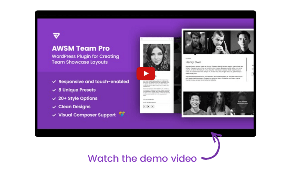The Team Pro - Team Showcase WordPress Plugin 4