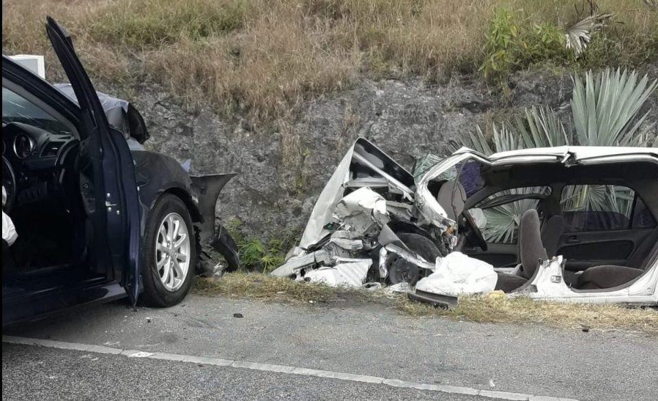 Four injured in two-vehicle accident
