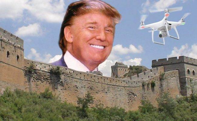 Drone Footage Of The Trump S Border Wall Wetalkuav Com