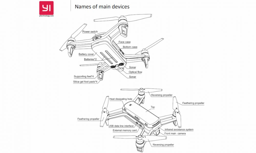 Leaked manual reveals Spark-like quadcopter from Yi