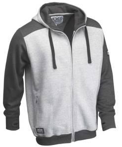 JCB Trade Two-Tone Grey Zipped Hoodie