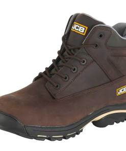 JCB WORKMAX+ Dark Brown Leather Boot with Steel Midsole