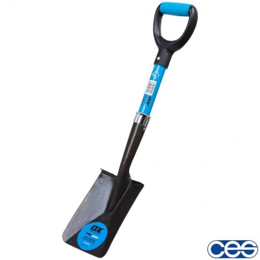 OX Pro Mini Square Mouth Gardeners (Snow) Shovel