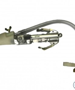 Putzmeister render spray gun with aluminium material shut off, 25mm female swivel coupling, air control and 14mm Nozzle