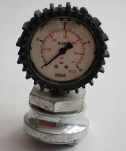 40 Bar material pressure gauge 50mm dia bottom entry