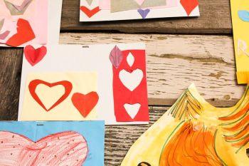 heart kid art
