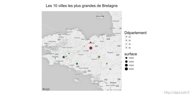 Les 10 villes les plus grandes de Bretagne