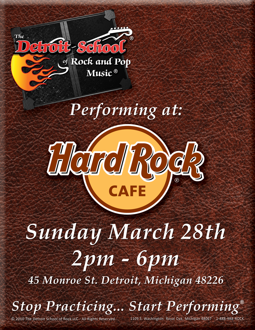 DSRP at The Hard Rock Cafe – March 28th!