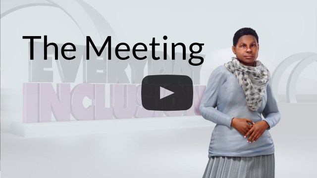 everyday inclusion part 2 cover photo diversity inclusion virtual reality training for empathy button app 2 The meeting