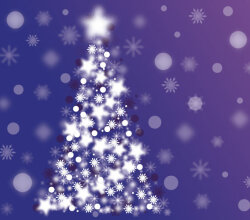 Abstract Sparkle Christmas Tree Vector Background
