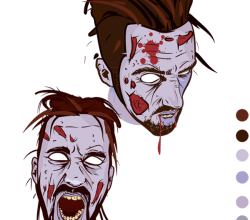 Vector Scary Zombie Face Image