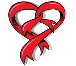 Vector Heart Shaped Ribbon