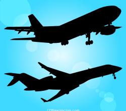 Airplane Stock Vector