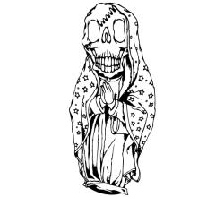 Vector Skull Guadalupe