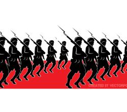 Military Parade Vector Image