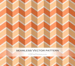 Orange Chevron Seamless Pattern Vector