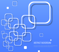 Abstract Blue Background with White Squares Illustrator