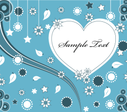 Lovely Valentine Heart Greeting Card Vector