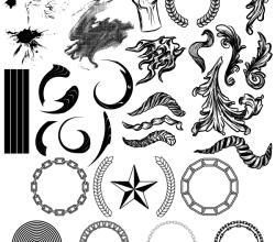 Geometric Elements, Halftone, Splatters Free Illustrator Vector Pack