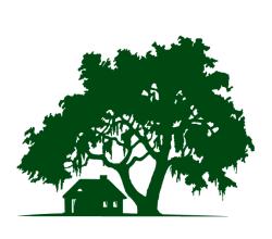 Oak Tree with Cabin Vector