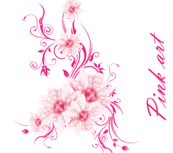 Lovely Pink Flowers Free Vector Art