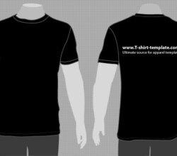 Vector Model Tshirt Template Front Back