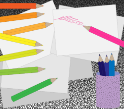 Vector Colored Pencil