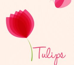 Tulips Background Design Vector