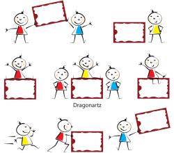 Vector Kids Message Board Design
