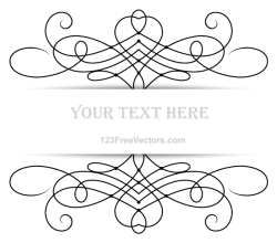 Vector Floral Ornament Banner with Place for Your Text