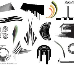 Line Art Design Elements Vector Set-8
